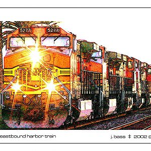 eastbound harbor train in fullerton, california