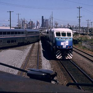 Amtrak and Sound transit at the Coach Wye