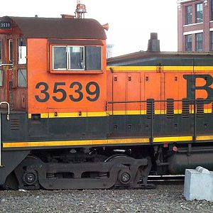 On the ground BNSF 3539