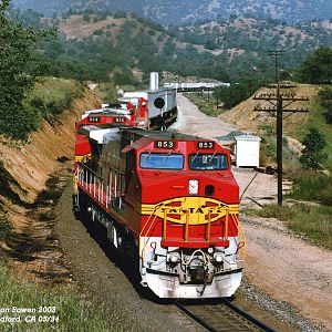 ATSF 853 east Woodford, CA 05-94