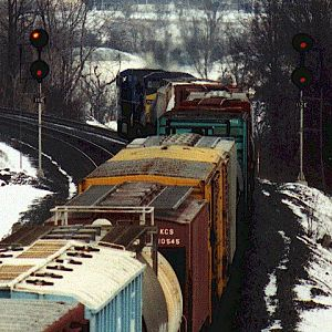 CSX Short Line in winter
