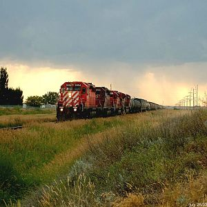 CP rail east bound Brooks Alberta