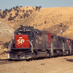 Tehachapi, August 1974, the first SD40T-2.