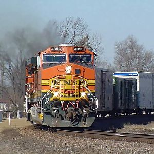 BNSF Into Galesburg Illinois