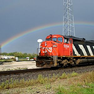 CN under Rainbow, Schoolcraft Michigan
