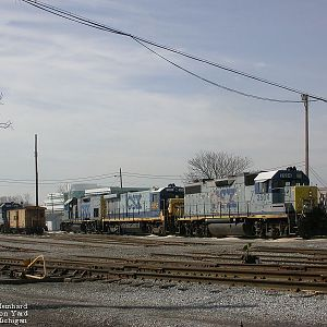 CSX Power at Port Huron Yard