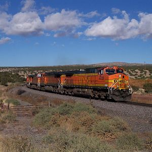 Eastbound intermodal at Scholle, NM