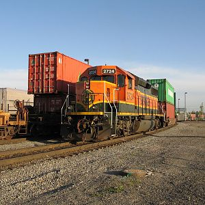 BNSF 2724 in the Port of Tacoma