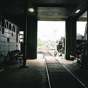 A view out from the enginehouse