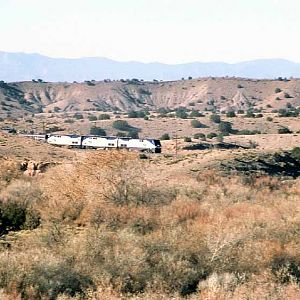 Amtrak In The Rock Formations