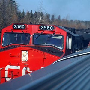A CN Freight passes Via #1