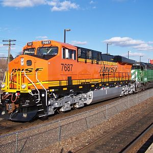First BNSF New Logo, First Run