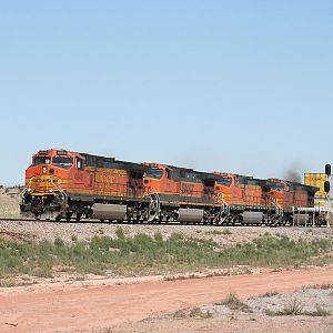 BNSF 4845 westbound at Rio Puerco