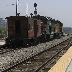Saugus Local, with caboose leading!