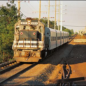 LIRR GP38-2 at sunset