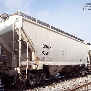 Genesee & Wyoming railroad salt hopper