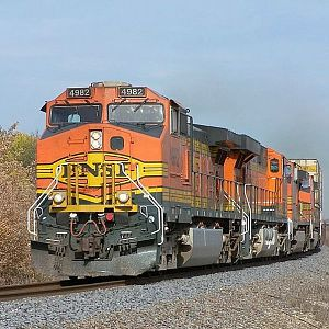 BNSF 4982 at Wilmington