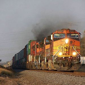 BNSF 4087 at Coal City