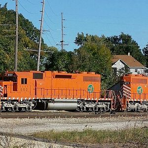 EJ&E 660 and EJ&E 672 at Joliet