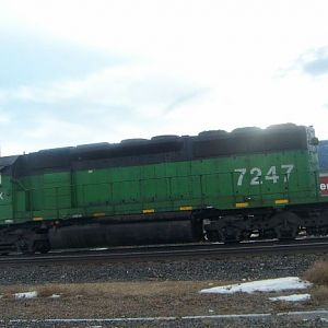 FURX SD40-2 at the siding