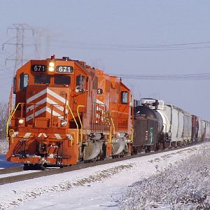 EJ&E 671 heads through Joliet