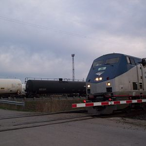 Last eastbound Amtrak/VIA international at Sarnia