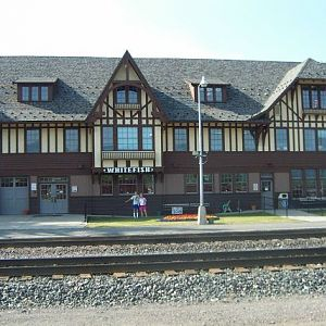 The Whitefish Amtrak Station