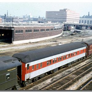 Arriving in Chicago on a PRR train