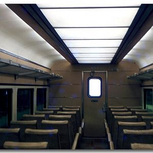 "NYC ""X-Train"" car interior."