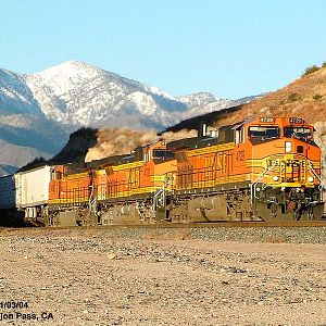 BNSF 4729 - Cajon Summit - East Bound