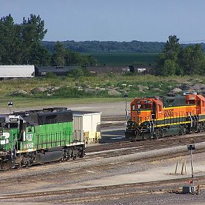 BN 6397, BNSF 2137 and BNSF 2199 at Galesburg
