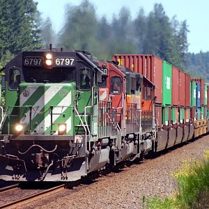 BNSF Double Stack Train
