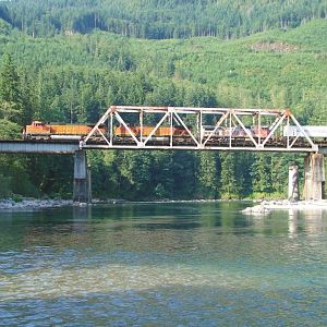 Crossing the Skykomish River #3