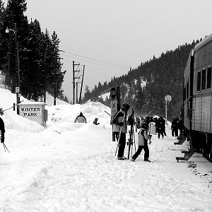 Loading of the ski train