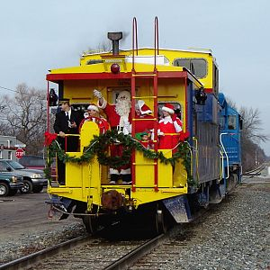 Marquette Rail Santa Train Caboose