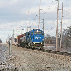 B-1-G pulls into Dowagiac, MI passes MP178