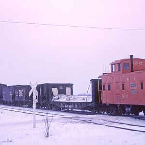 EJ&E #532, Eola, IL, Jan. 15, 1966, photo by Chuck Zeiler