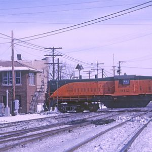 EJ&E # 912, West Chicago, IL,, Jan. 26, 1966, photo by Chuck Zeiler