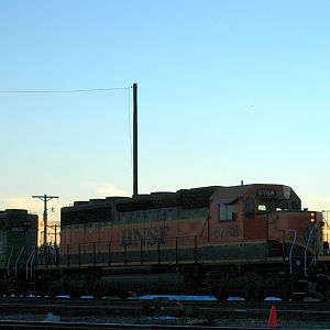 SD40-2 In A Rocky Mountain Sunset