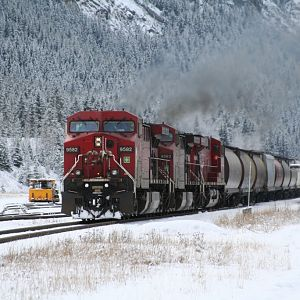 Eastbound Grain leaving Field