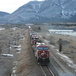 Eastbound Freight at Seebe