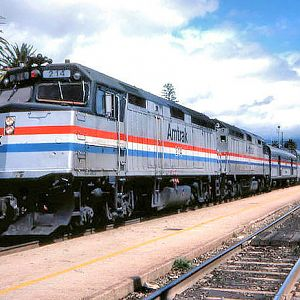 Coast Starlight #13 @ Santa Barbara, CA - 1987