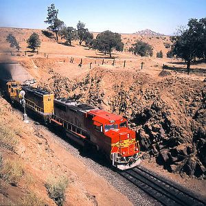 Santa Fe Super Fleet @ Walong/Tehachapi Loop