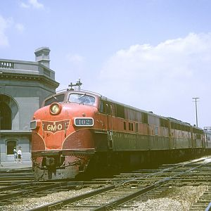 GM&O E-7 #102, Joliet, IL, July 11, 1965, photo by Chuck Zeiler