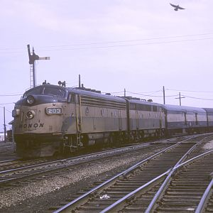 Monon F-3 #203, Chicago, IL, April 20, 1965, photo by Chuck Zeiler