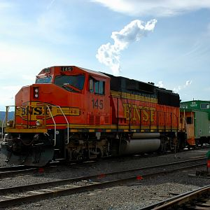 A BNSF GP60 M And Clean Caboose