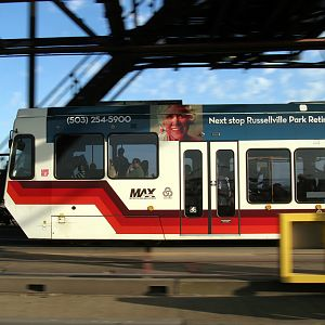 Portland Max on the Steel Bridge
