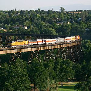 DD40X over Redding Trestle