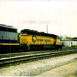 the last surviving Chessie System unit in the Chessie System paint scheme