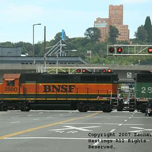 BNSF #2880 in Heritage I paint.